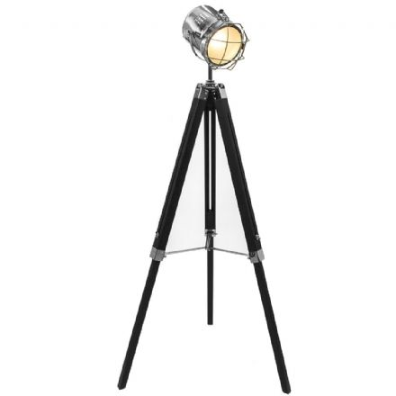 Hollywood Tripod Large Floor Lamp Retro Spotlight 1.4M Black